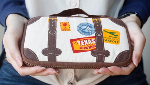 Ultrhard-小皮箱旅行筆袋收納包